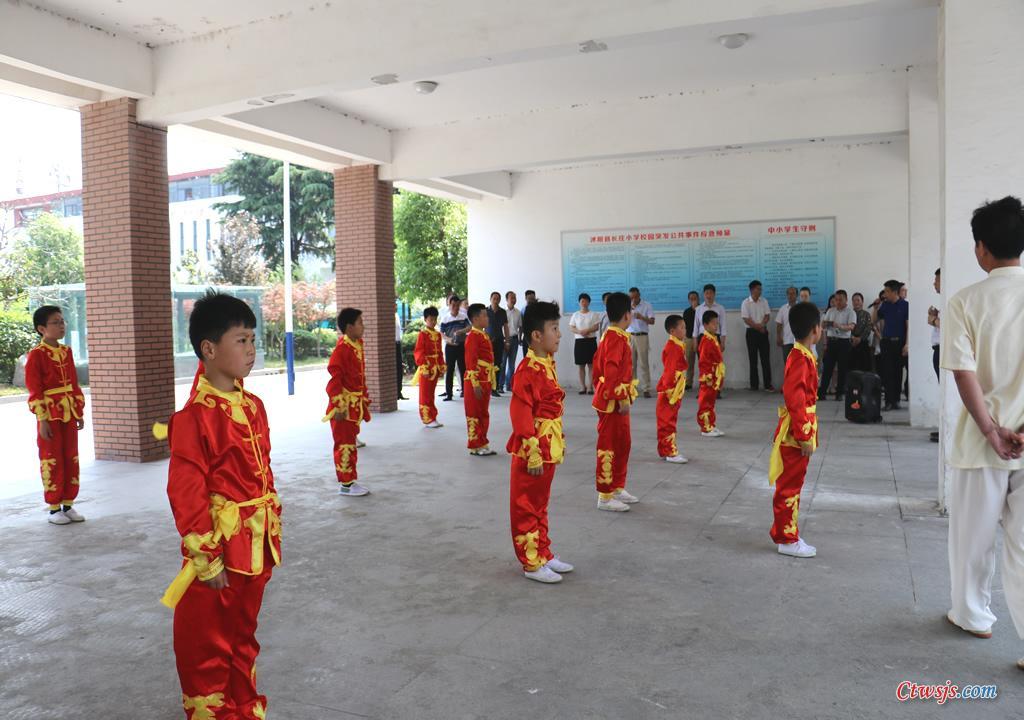 3-沭阳县长庄小学武术观摩活动展示