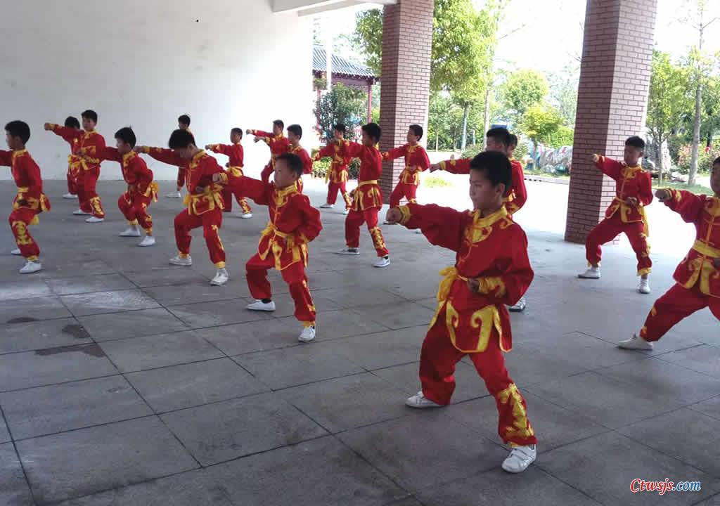 沭阳县中小学观摩活动-长庄小学武术展示
